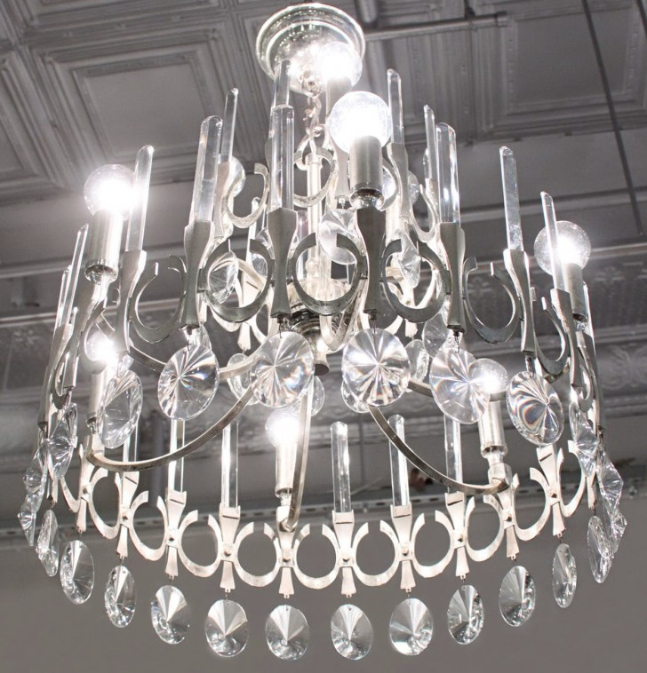 Permalink to Brushed Nickel Chandelier With Crystals