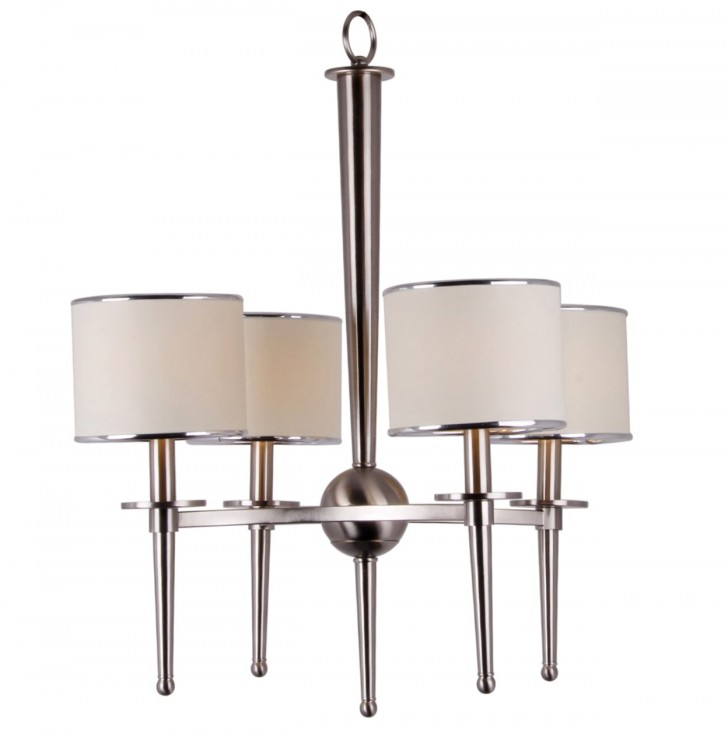 Permalink to Brushed Nickel Chandelier With Fabric Shades