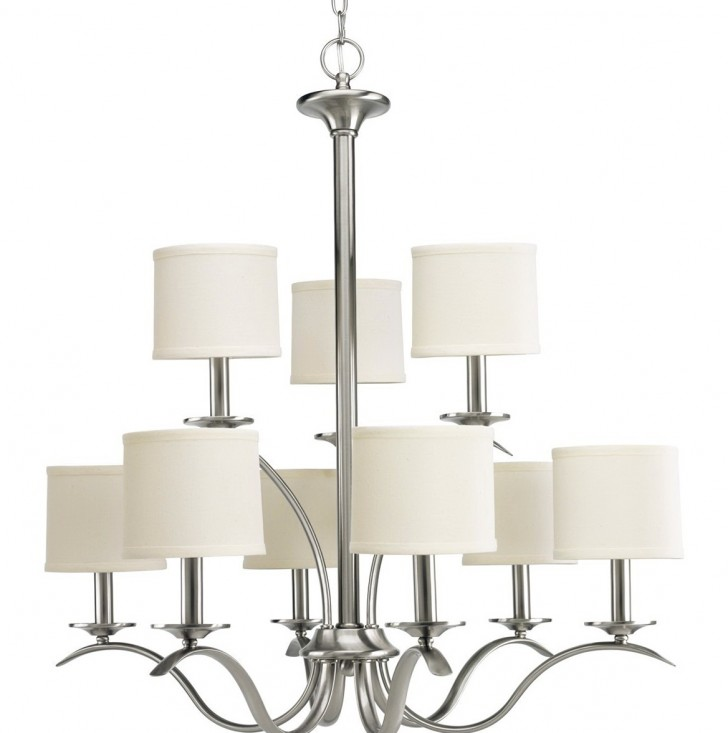 Permalink to Brushed Nickel Chandelier With Shades
