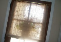 Burlap No Sew Curtains