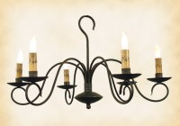 cast iron candle chandelier