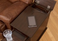 Chair Side Table With Power
