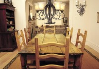 Chandelier Over Kitchen Table