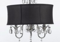 Chandelier With Black Drum Shade