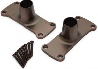 Closet Rod Flange Set Oil Rubbed Bronze