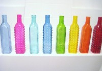 Colored Glass Vases And Bottles