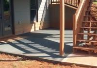 Concrete Patio Under Deck