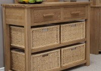 Console Table With Storage Baskets