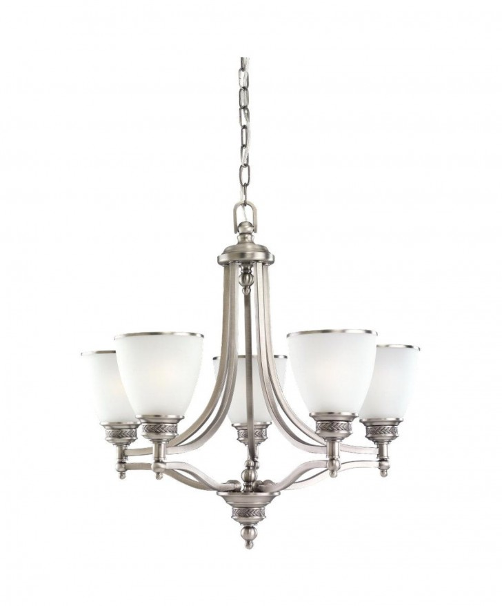 Permalink to Contemporary Brushed Nickel Chandelier