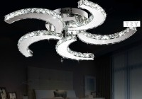 Crystal Chandelier Ceiling Fan Combo