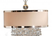 crystal chandelier with drum shade