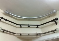 curved curtain rods for corner windows