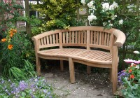 Curved Outdoor Bench With Back