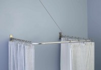 Curved Shower Curtain Rod Brushed Nickel