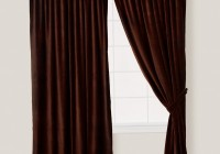 Dark Brown And Blue Curtains