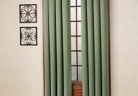 Dark Green Lace Curtains