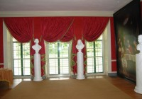 Dark Pink Velvet Curtains
