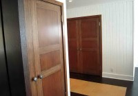 Dark Wood Bifold Closet Doors