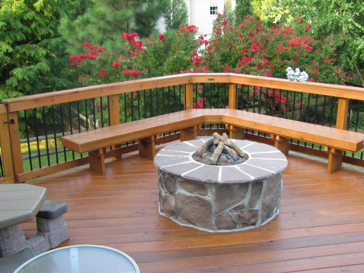 Permalink to Deck Design Ideas With Fire Pit