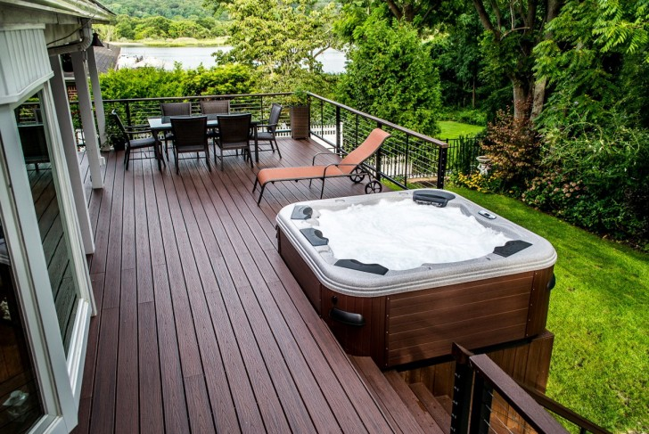 Permalink to Deck Design Ideas With Hot Tub