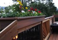 Deck Rail Planters Plans