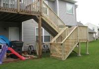 Deck Stair Railing Construction