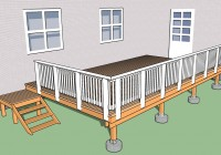 Deck Stair Railing Dimensions