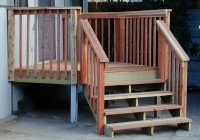 Deck Stair Railing Post Attachment