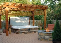 Decks With Hot Tubs And Fire Pits