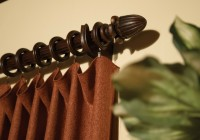 decorative wood curtain rods