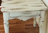 Distressed White Accent Table