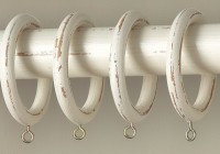 Distressed White Curtain Rod
