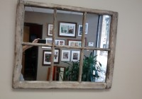 Distressed Window Pane Mirror