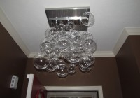 diy glass bubble chandelier