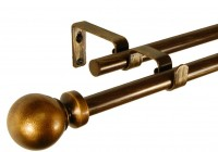 Double Rod Curtain Rods 144 Inches