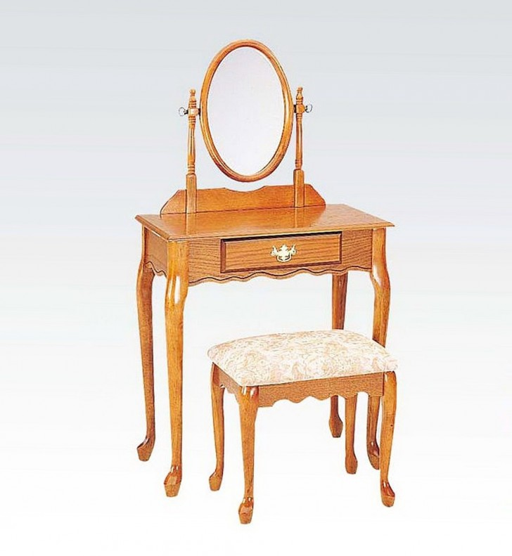 Permalink to Dresser With Mirror And Stool