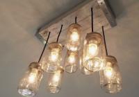 Edison Bulb Chandelier Mason Jar