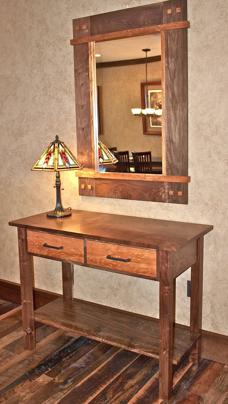 Permalink to Entry Console Table With Mirror
