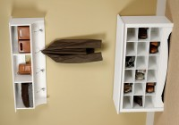 Entry Storage Bench With Coat Rack
