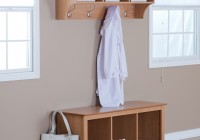 Entryway Bench With Coat Rack And Shoe Storage