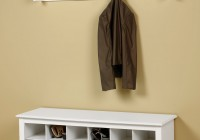 entryway shoe bench with coat rack