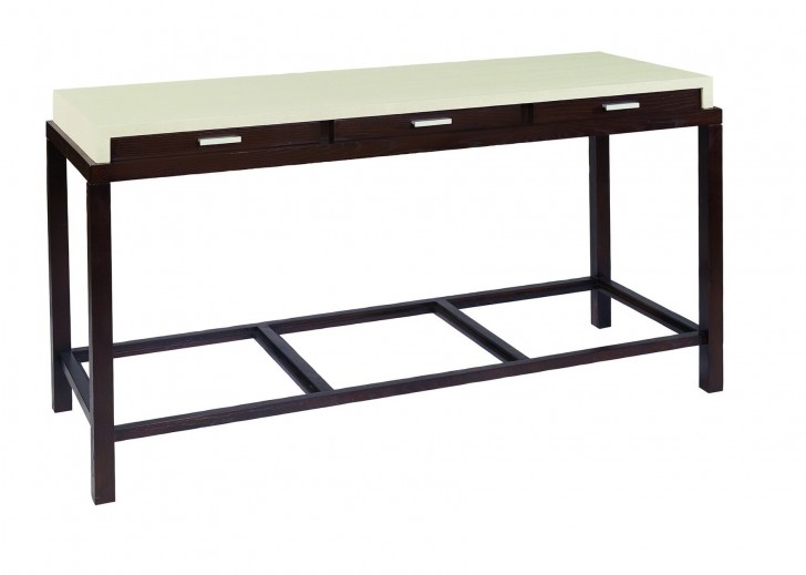 Permalink to Espresso Console Table With Drawers