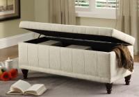 Fabric Storage Bench Seat