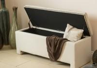 Fabric Storage Ottoman Bench