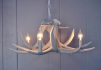 Faux White Antler Chandelier