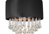 flush mount black crystal chandelier