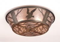 Flush Mount Chandelier Rustic