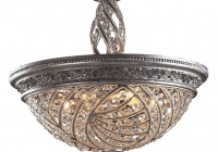 Flush Mount Crystal Chandelier Light Fixture