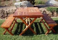 Folding Picnic Table Bench Free Plans