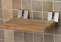 Folding Shower Bench Wood